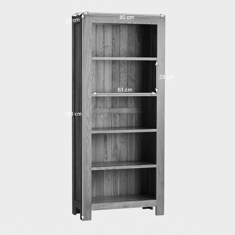 Kích thước tủ sách cao Oakdale gỗ sồi