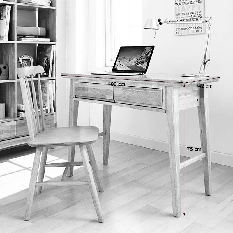 Kích thước bàn làm việc nhỏ NB-Natural gỗ cao su