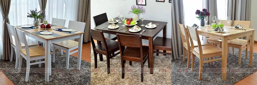 Bộ bàn ăn 4 ghế Gumi