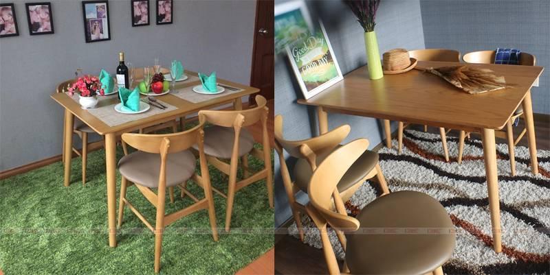 bàn ăn Suwon màu tự nhiên