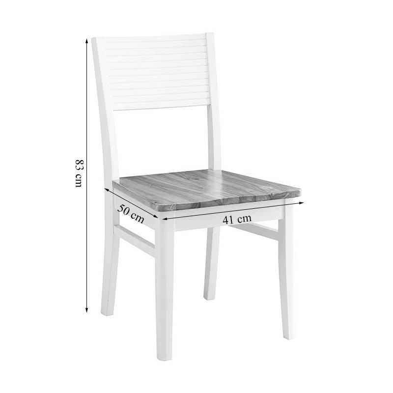 Kích thước ghế Gumi gỗ cao su