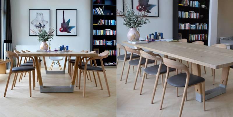 Ghế Neva gỗ cao su màu tự nhiên
