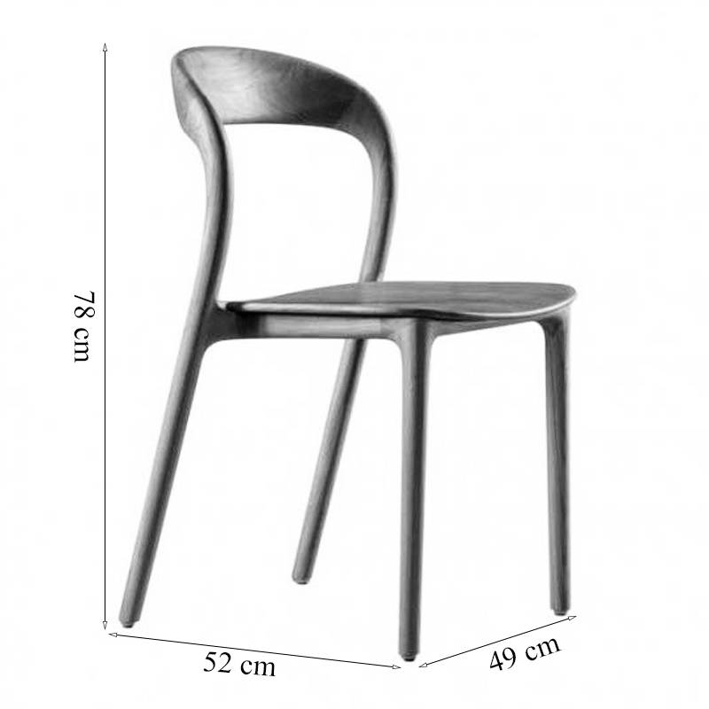 Kích thước ghế Neva gỗ cao su