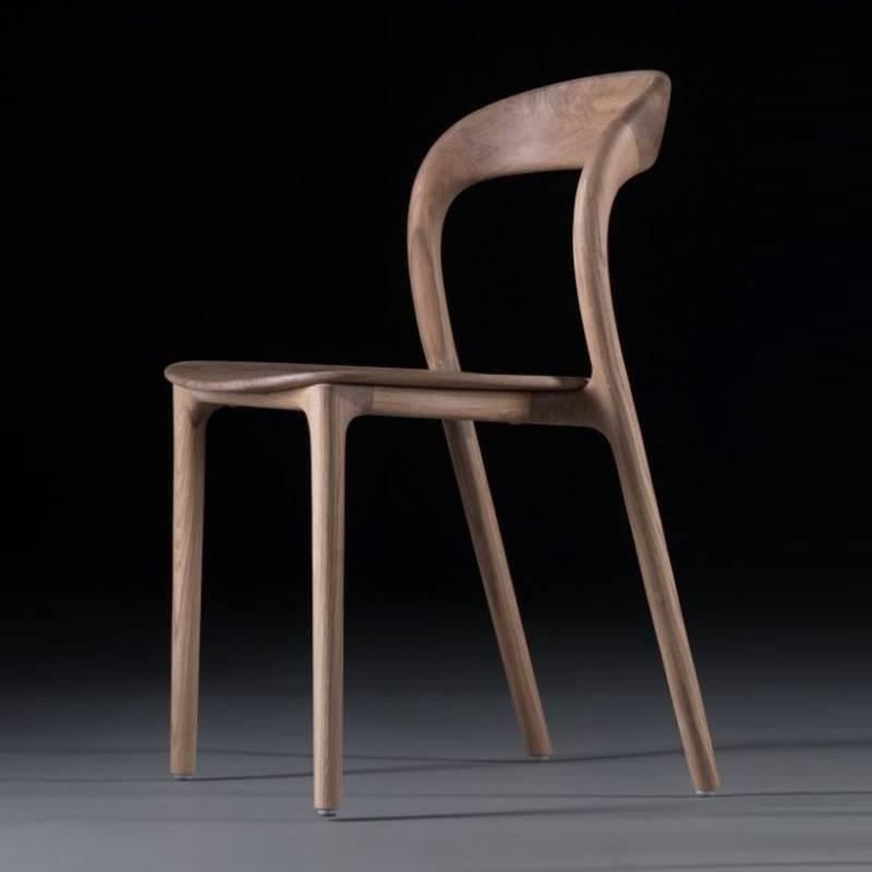 Ghế Neva không tay mặt gỗ màu tự nhiên