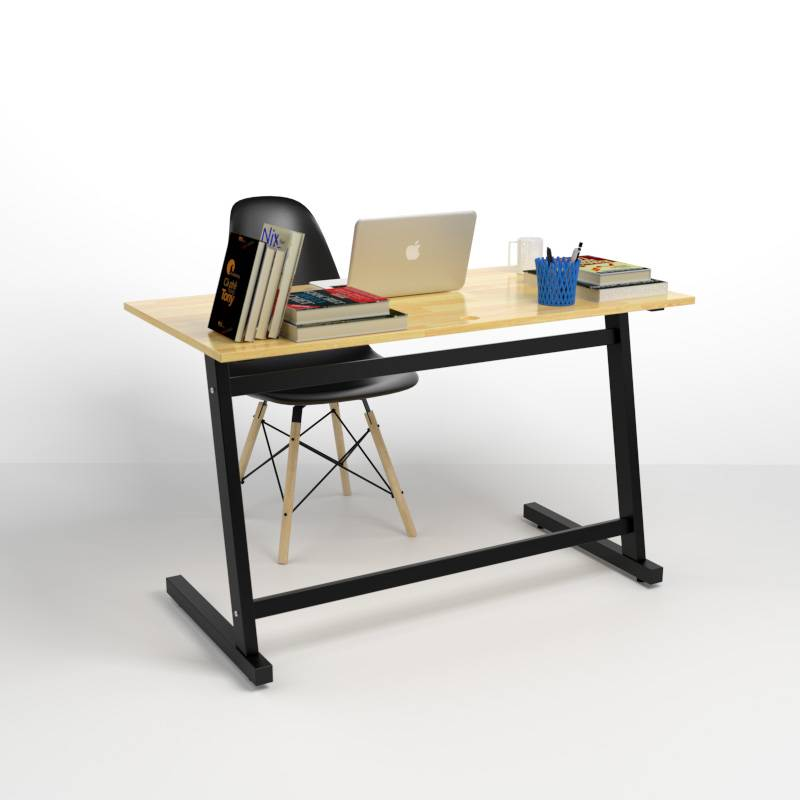 Bộ bàn Rec-Z chân đen và ghế Eames đen