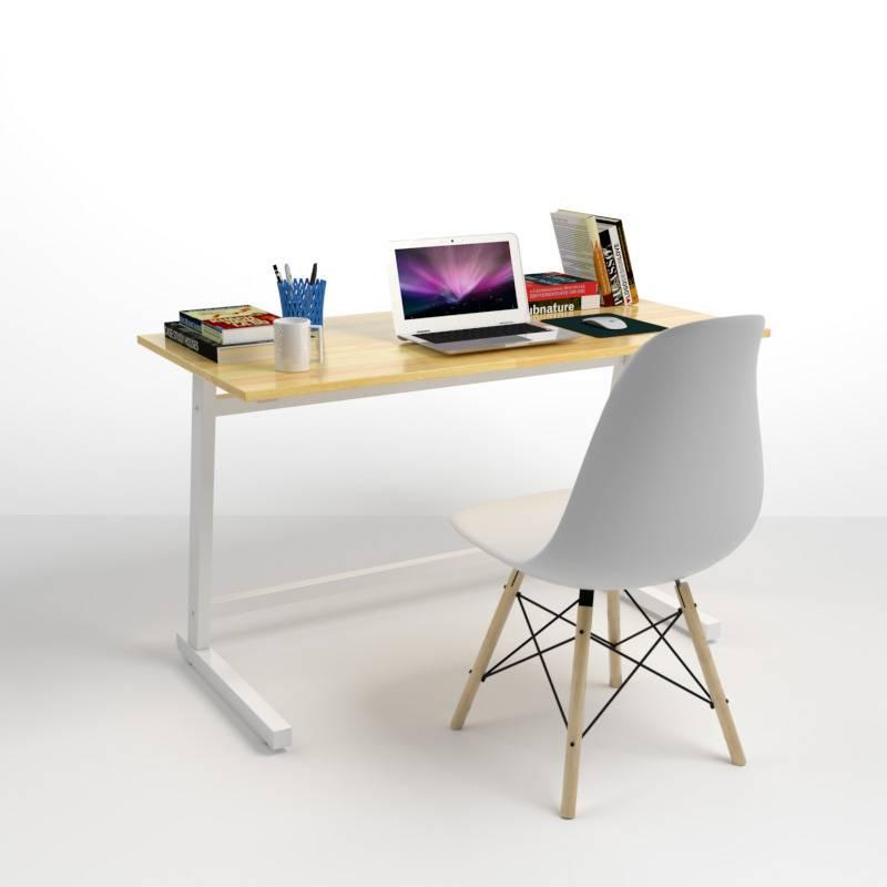 Minh họa bộ bàn Rec-Z chân trắng