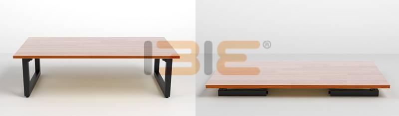 Minh họa bàn Rec-B đen gấp gọn