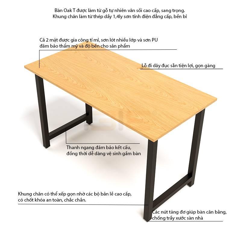 Mô tả bàn Oak-T