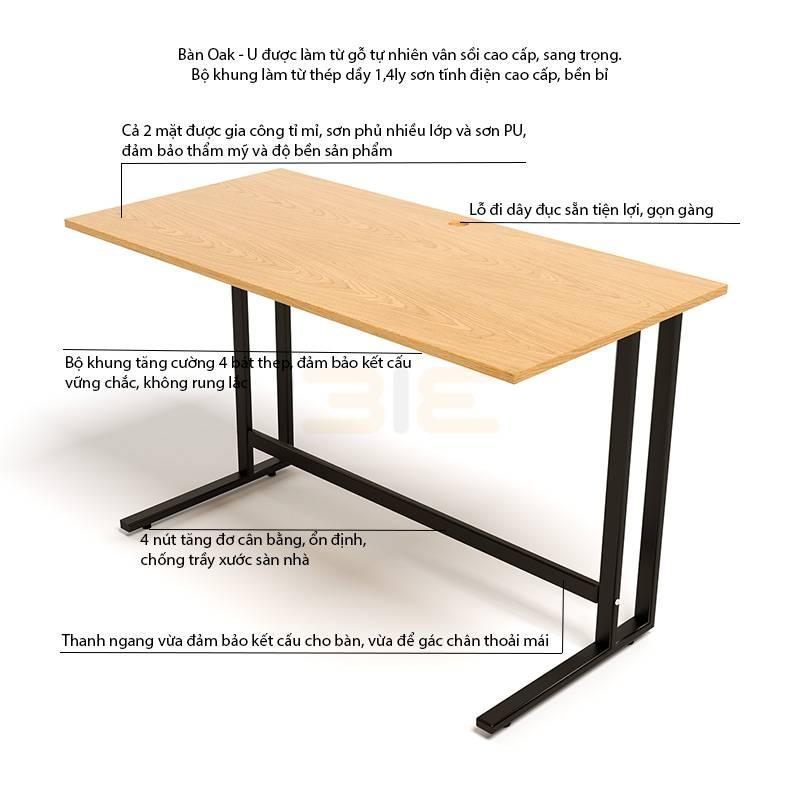 Mô tả bàn Oak-U