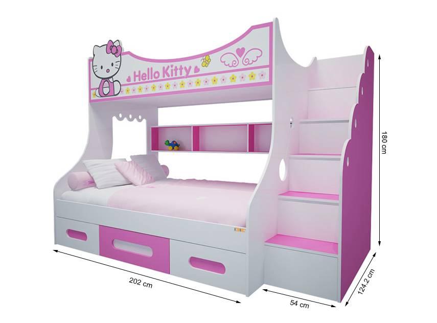 Giuong tầng cao Hello Kitty