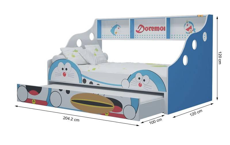 Giường tầng thấp Doremon 1m2