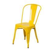 Chụp nghiêng Ghế Tolix lưng cao IB818 màu vàng