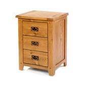 Tủ đầu giường Rustic 3 ngăn gỗ sồi 2