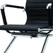 Ghế da IB06GQ chân quỳ cao cấp màu đen 3