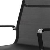 Cận cảnh lưng ghế lưới IB811 chân hợp kim nhôm cao cấp màu đen