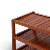 Kệ dép 3 tầng IB363 gỗ cao su màu cánh gián