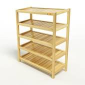 Kệ dép 5 tầng IB573 gỗ cao su màu tự nhiên