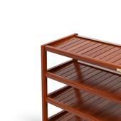Kệ dép 5 tầng IB573 gỗ cao su màu cánh gián