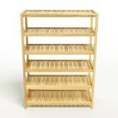Kệ dép 6 tầng IB673 gỗ cao su màu tự nhiên