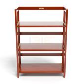 Kệ sách 3 tầng HB363 gỗ cao su màu cánh gián