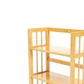 Kệ sách 3 tầng HB363 gỗ cao su màu tự nhiên 3