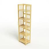 Kệ sách 5 tầng HB540 gỗ cao su màu tự nhiên