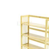 Kệ sách 4 tầng HB490 gỗ cao su màu tự nhiên