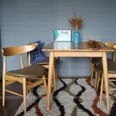 Bộ bàn ăn 4 ghế Suwon màu tự nhiên