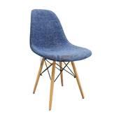 Ghế Eames bọc thổ cẩm chân gỗ nhiều màu