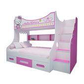 Giường tầng cao hình Hello Kitty 1m2