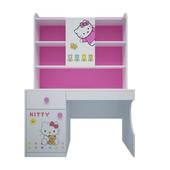 Bộ bàn học có giá sách hình Hello Kitty 1m2