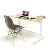 Bộ bàn Oak-Z trắng vân sồi và ghế Eames chân gỗ