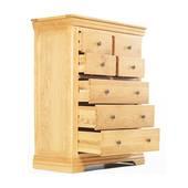 Tủ 7 ngăn kéo đứng Victoria gỗ sồi