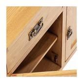 Tủ chén thấp 3 cánh 3 ngăn Rustic gỗ sồi