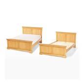 Giường đôi Victoria gỗ sồi