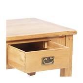 Bàn trà 2 ngăn kéo Rustic gỗ sồi