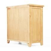 Tủ chén thấp 2 cánh Rustic gỗ sồi