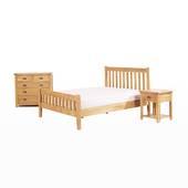 Tủ đầu giường Rustic 1 ngăn gỗ sồi