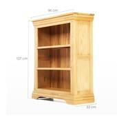 Tủ sách 3 ngăn Victoria gỗ sồi