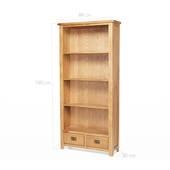 Tủ sách 4 ngăn 2 hộc kéo Rustic gỗ sồi