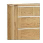 Tủ 5 ngăn kéo ngang Casa gỗ sồi