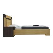 Bộ giường ngủ Honshu màu nâu