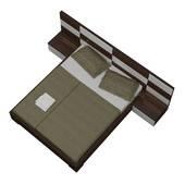 Bộ giường ngủ Okina nâu