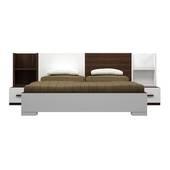 Bộ giường ngủ Saga trắng