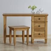 Ghế trang điểm Classic gỗ sồi