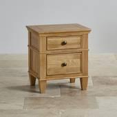 Tủ đầu giường 2 ngăn Classic gỗ sồi