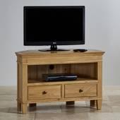 Tủ TV góc Classic gỗ sồi