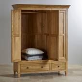 Tủ áo 3 cánh Classic gỗ sồi