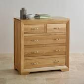 Tủ 5 ngăn kéo Bevel gỗ sồi