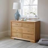 Tủ 6 ngăn kéo Bevel gỗ sồi